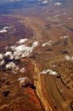 Ansicht vom Flugzeug Lizenzfreies Stockbild