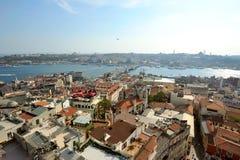 Ansicht vom Galata-Turm Stockbilder