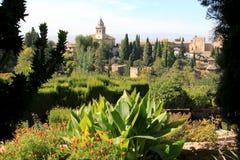 Ansicht vom Generalife, Alhambra, Granada, Spanien Stockfotos