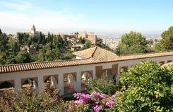 Ansicht vom Generalife, Granada, Spanien Lizenzfreies Stockbild