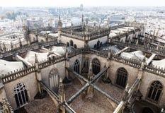 Ansicht vom Giralda-Turm in Sevilla, Spanien Stockbilder