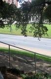 Ansicht vom grasartigen Hügel Stockfoto