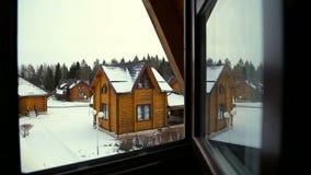 Ansicht vom Häuschenfenster stock video footage