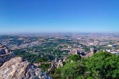 Ansicht vom Höhepunkt von Moors Schloss Stockbilder