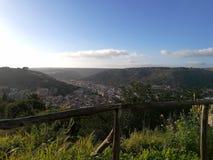 Ansicht vom Hügel stockbild