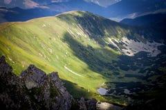 Ansicht vom Hügel Dumbier, Slowakei lizenzfreie stockbilder