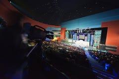 Ansicht vom Hallenende auf Szene. Lizenzfreie Stockbilder