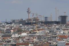 Ansicht vom Haus des Meeres auf Wien stockbild