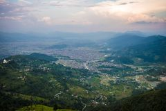 Ansicht vom hohen Berg Lizenzfreie Stockbilder