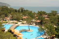 Ansicht vom Hotel in der Türkei Lizenzfreies Stockfoto