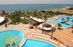 Ansicht vom Hotel in der Türkei Stockfotografie