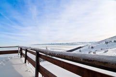 Ansicht vom Hotelbalkon stockfotos