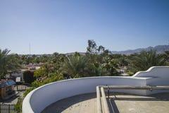 Ansicht vom Hoteldach Stockbilder