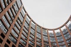 Ansicht vom Innere des Hofes des Europäischen Parlaments in Frankreich zum Himmel Stockfoto