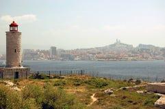 Ansicht vom Insel d'If in Marseille Stockfotos