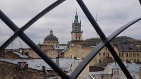 Ansicht vom Käfig Stockbild