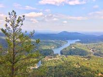 Ansicht vom Kamin-Felsen Stockfotos