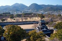 Ansicht vom Kumamoto-Schloss-Unterhalt Lizenzfreies Stockfoto