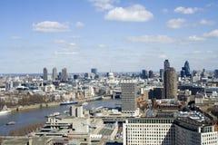 Ansicht vom London-Auge Stockfotos