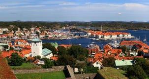 Ansicht vom Marstrand Schloss Lizenzfreies Stockfoto