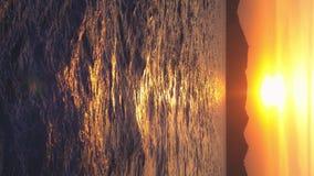 Ansicht vom Meer zur Insel während des Sonnenuntergangs, Meerblick stock video footage