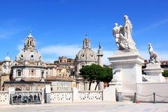 Ansicht vom nationalen Monument in Rom, Italien Stockbilder