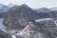 Ansicht vom Neuschwanstein-Schloss Stockfotografie
