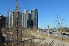 Ansicht vom Nordalleen-Strand Stockbild