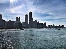 Ansicht vom Nordalleen-Strand Sommerzeit in Chicago Stockfotos