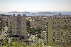 Ansicht vom Notre Damede-La Garde auf Marseille Stockbild