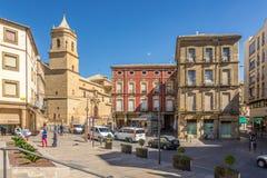 Ansicht vom Ort von Andalusien an der Kirche der Heiligen Dreifaltigkeit in Ubeda - Spanien stockbilder