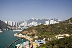 Ansicht vom Ozeanpark in Hong Kong lizenzfreies stockbild