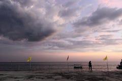 Ansicht vom Pier in Thailand lizenzfreies stockbild