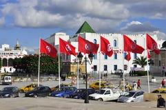 Ansicht vom Platz de la Kasbah, Tunis lizenzfreies stockfoto