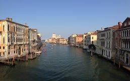 Ansicht vom Ponte-dell'Accademia Lizenzfreie Stockfotografie