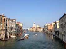 Ansicht vom Ponte-dell'Accademia Lizenzfreies Stockfoto