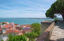 Ansicht vom Schloss Stockfotografie