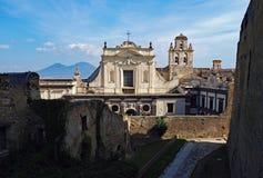 Ansicht vom Schloss St Elmo Stockbilder