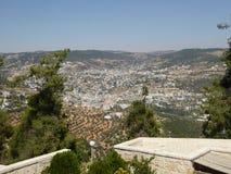 Ansicht vom Schloss von Ajloun lizenzfreie stockfotografie