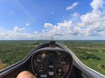 Ansicht vom Segelflugzeug lizenzfreies stockbild