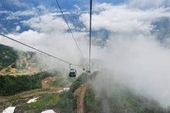 Ansicht vom Skiaufzug Lizenzfreie Stockfotografie