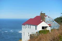 Ansicht vom Souvenirladen am Kap Foulweather, Oregon Lizenzfreie Stockbilder
