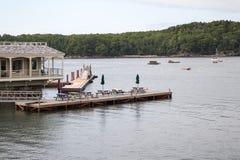 Ansicht vom Stangen-Hafen in Maine USA stockbilder
