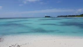 Ansicht vom Strand in den Malediven Stockfotografie