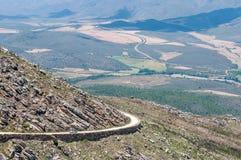 Ansicht vom Swartberg-Durchlauf zum Osten Lizenzfreies Stockfoto