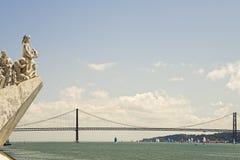 Ansicht vom Tajo vom Monument der Entdeckungen Lizenzfreies Stockfoto