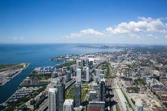 Ansicht vom Turm in Toronto Ontario Stockfotografie