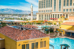 Ansicht vom venetianischen Hotelzimmer Stockbilder