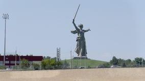 Ansicht vom Volga zu Mamaev Kurgan stock footage