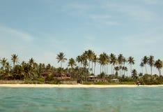 Ansicht vom Wasser am Koggala-Strand Sri Lanka Lizenzfreie Stockfotos